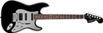 Gitara elektryczna FENDER Squier Standard Stratocaster Black and Chrome HSS RW Black