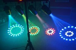 4-efektowa rampa oświetleniowa Light Set Multi Flower - 4x 57 RGBW LED DMX